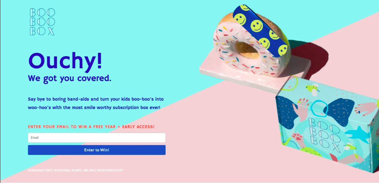 landing page for sales funnel