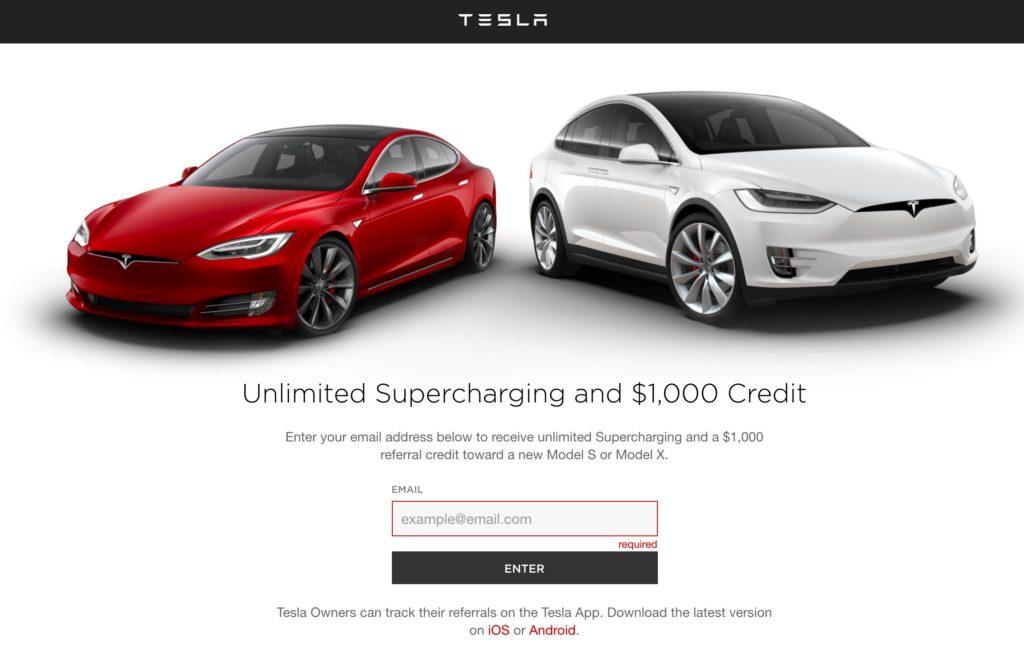 Tesla previous Referral Program