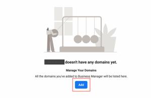 step 2 - add a domain