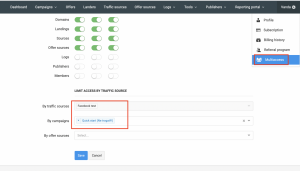 multiaccess update redtrack